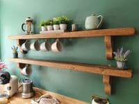 Tortuga Rustic Wooden Shelf